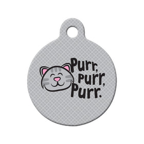 Soft Kitty - Purr, Purr, Purr Circle Pet ID Tag