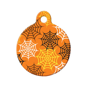 Spider Web Pattern Circle Pet ID Tag