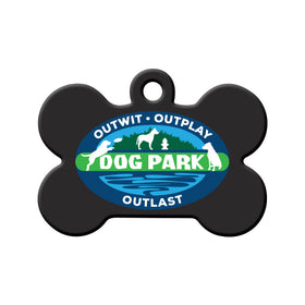 Survivor Dog Park Bone Pet ID Tag
