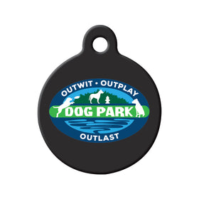 Survivor Dog Park Circle Pet ID Tag