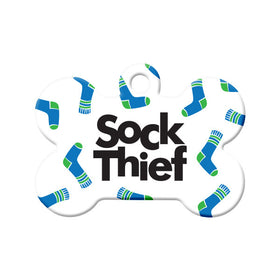 Sock Thief Bone Pet ID Tag
