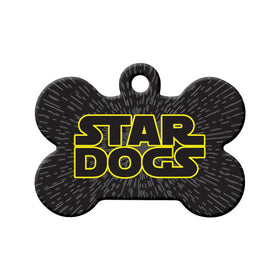 Star Dogs Bone Pet ID Tag