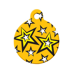 Seeing Stars Pet Tag Circle Pet ID Tag