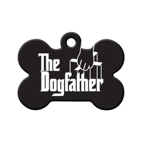 The Dogfather Bone Pet ID Tag