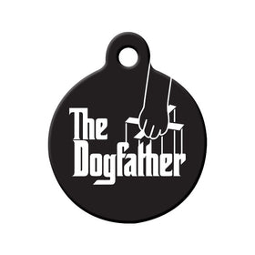 The Dogfather Circle Pet ID Tag