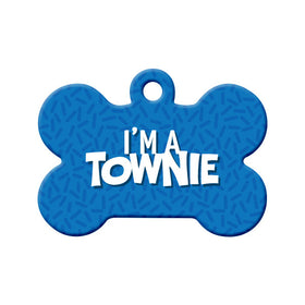 I'm a Townie, NL Bone Pet ID Tag