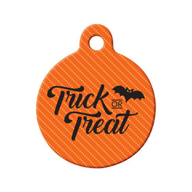 Trick or Treat Circle Pet ID Tag