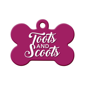 Toots and Scoots Bone Pet ID Tag