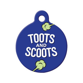 Toots and Scoots Circle Pet ID Tag