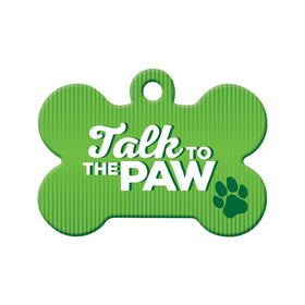 Talk to the Paw Bone Pet ID Tag