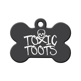 Toxic Toots Bone Pet ID Tag