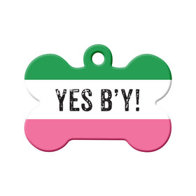 Republic of NL - Yes B'y! Bone Pet ID Tag