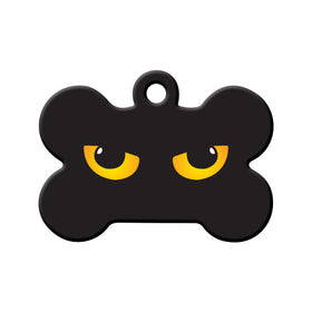 Glowing Eyes Bone Pet ID Tag
