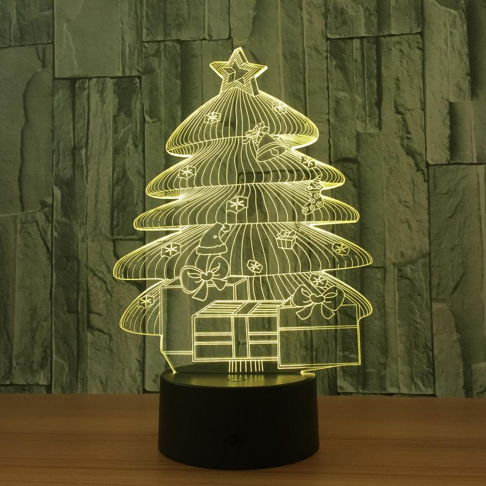 3D Christmas Tree Bedroom Lights – Coowesome