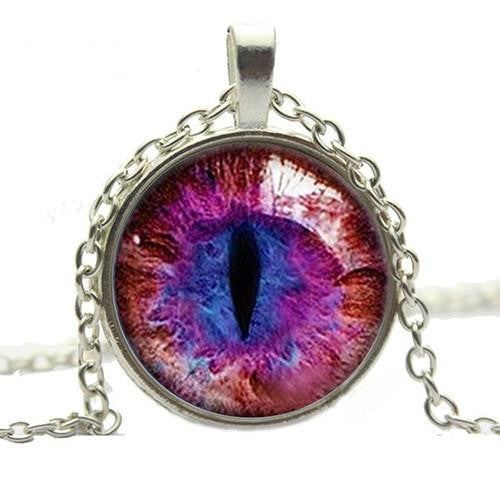 CAT EYE PENDANT NECKLACE