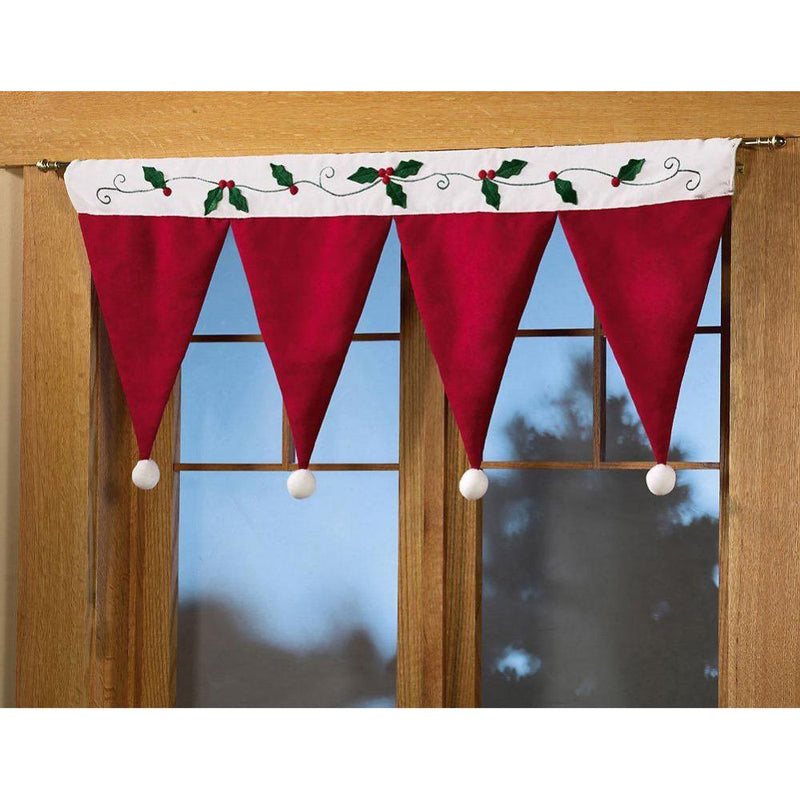 Santa Claus Hat Window Drape Panel