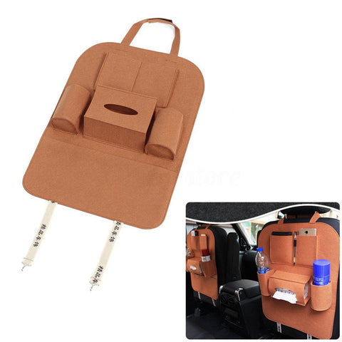 Universal Car Seat Back Pocket Holder Multifution Travel Storage Bag