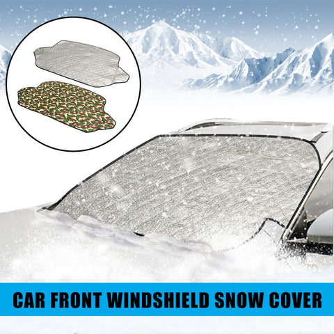 Universal 4 Seasons Car Front Windshield Snow Cover Frost Sun Shade Protector