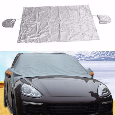 Car Front Wind Shield Mirror Cover Rain Snow Ice Resistant Protector Waterproof