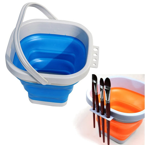 Paint Brush Washing Bucket For Watercolor Brush Folding Bucket Car Wash Outdoor Fishing Supplies
