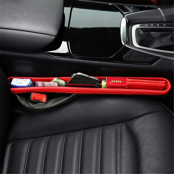 Deluxe High-Quality Leather Stationary Car Seat Crevice Storage Box