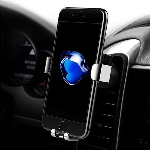 Rock Gravity Auto Lock Metal 360 Degree Rotation Car Air Vent Phone Holder Stand for Cellphone