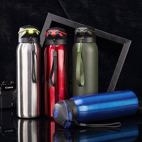 Vacuum Stainless Steel Bottle Insulation Cup Portable Outdoor Car Sports Bottles