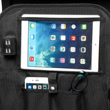 Car Seat Back Chargable Storage Bag Foldable Notebook Dining Tablet Multi-Pocket Organizer