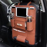 Multifunctional Pocket Car Backseat Phone Holder PU Leather Seat Organizer Storage for Phone Tablet