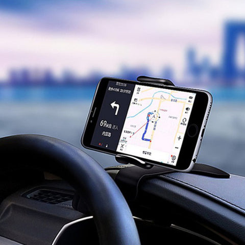 360° Rotatable HUD Type Car Dashboard Phone Holder Buckle ABS Mount Stand For 4-6 inch width phone