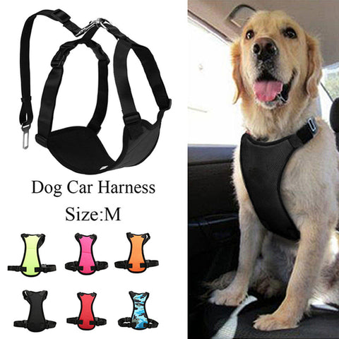 M Size Air Mesh Puppy Pet Dog Car Harness and Seatbelt Clip Lead Safety for Dogs Travel
