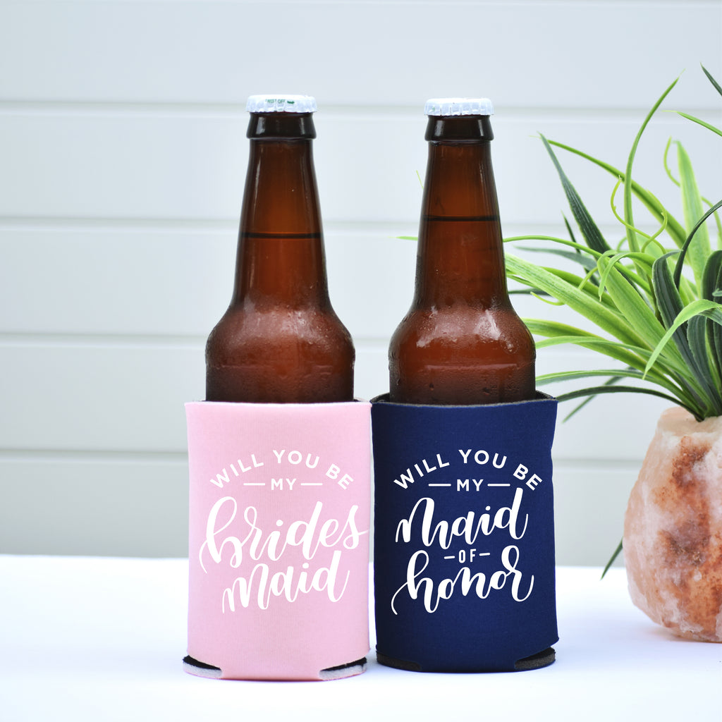 Will You be my Bridesmaid Can Coolers