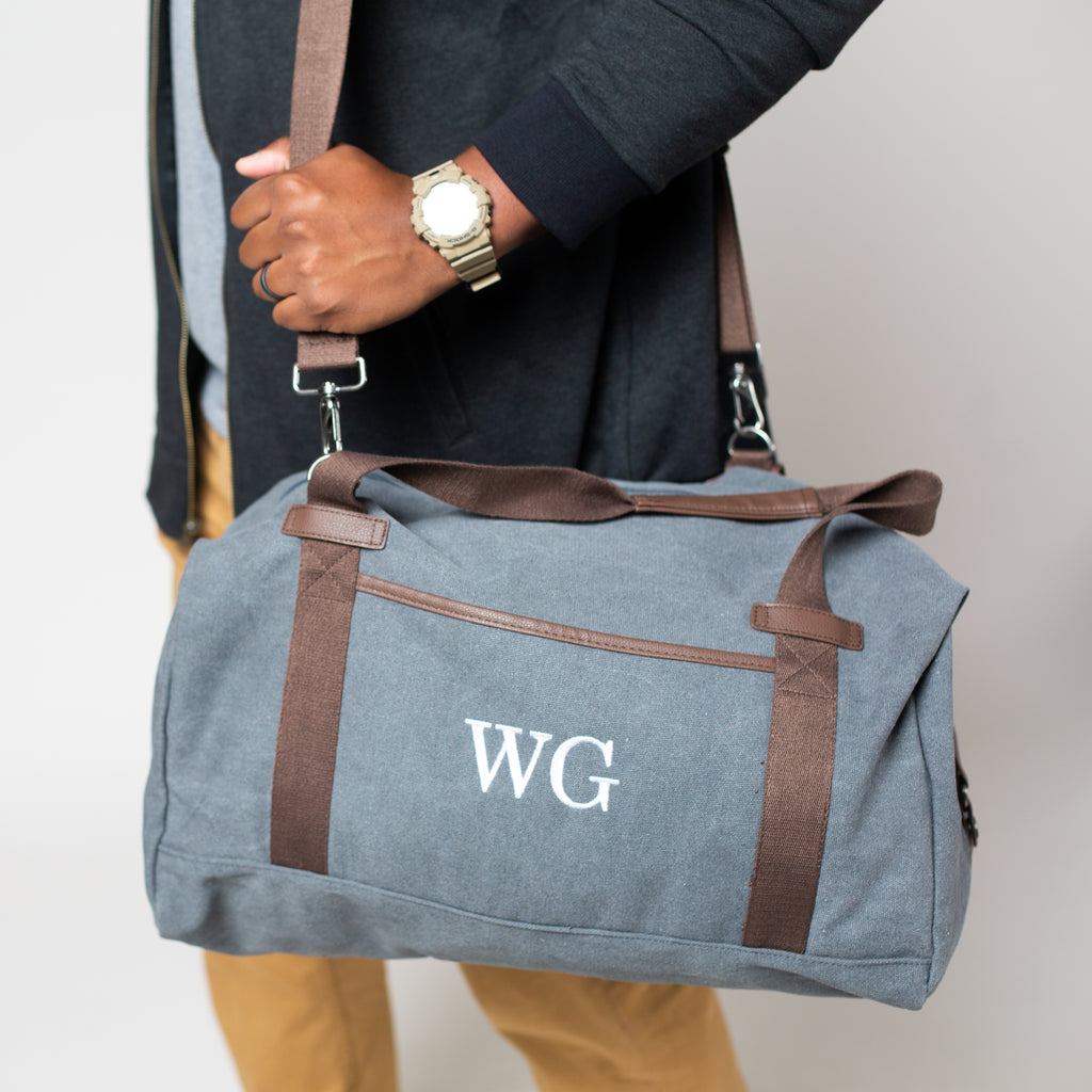 Embroidered Duffel Bag