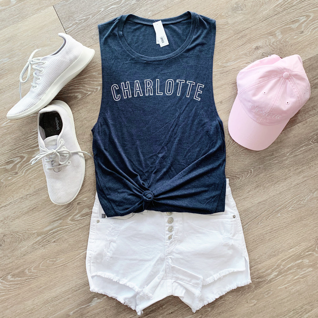 Charlotte Outline Muscle Tank