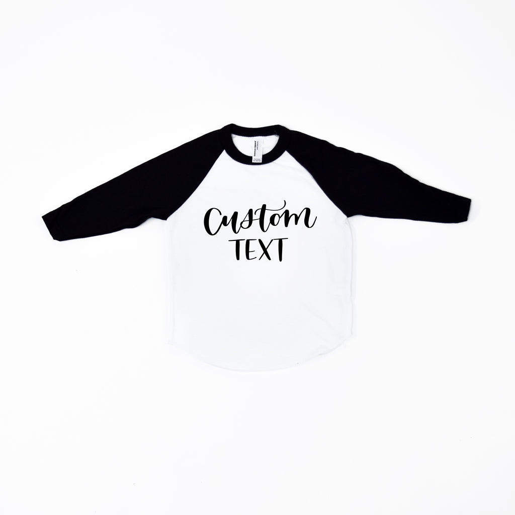 Custom Kids Baseball Tee