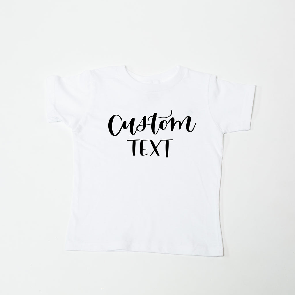 Custom White Kids' Tee
