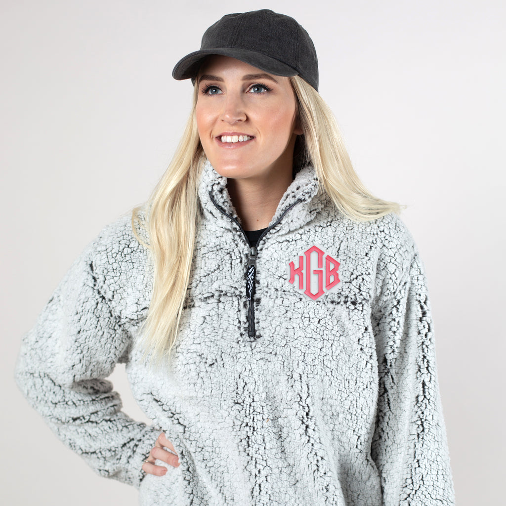 Embroidered Sherpa Pullover