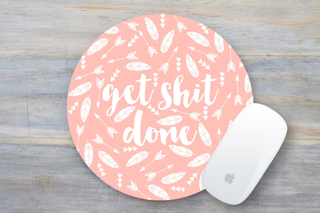 Get Shit Done Mouse Pad - Pink