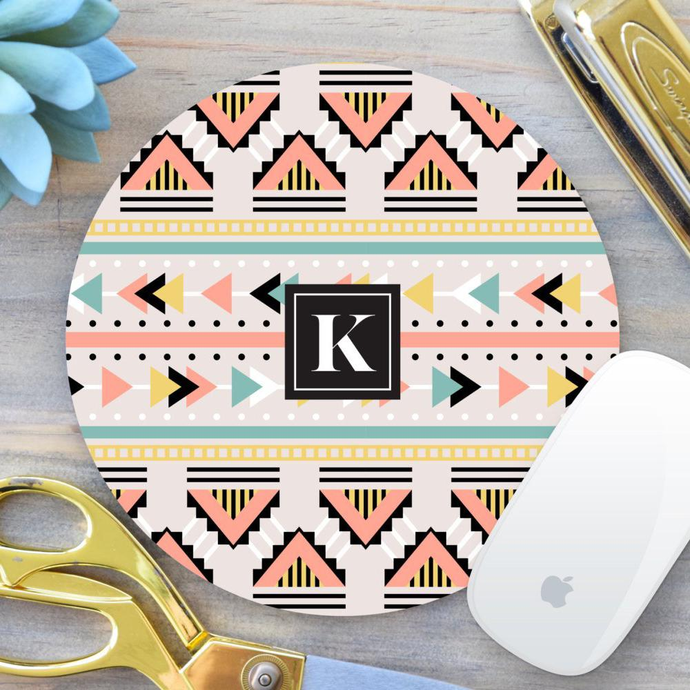 Monogram Geometric Mouse Pad