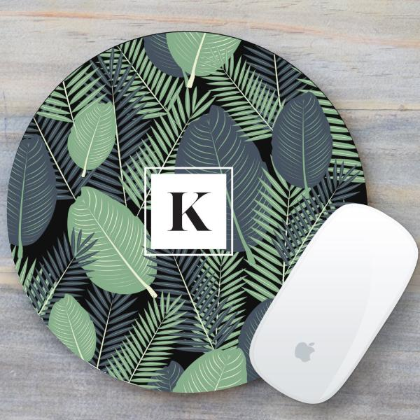 Tropical Monogram Mouse Pad