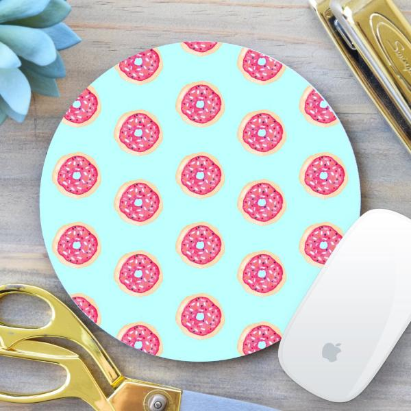 Donut Pattern Mouse Pad