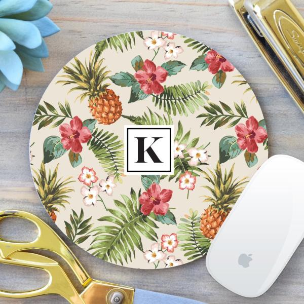 Floral / Pineapple Mouse Pad