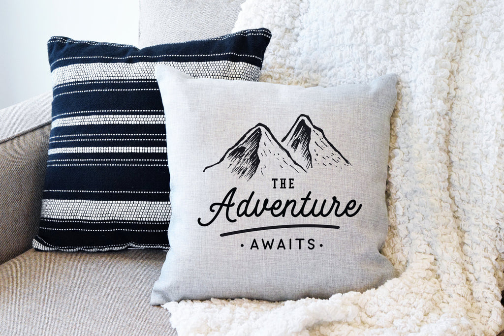 The Adventure Awaits Pillow Cover