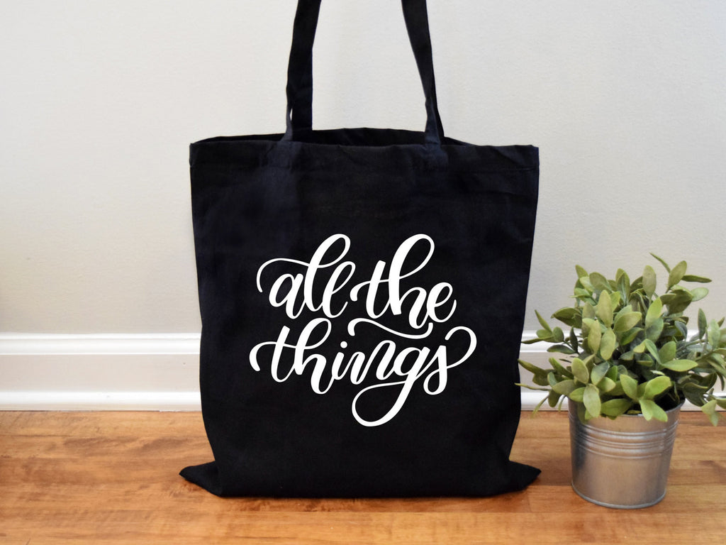 All the Things Tote Canvas Tote Bag