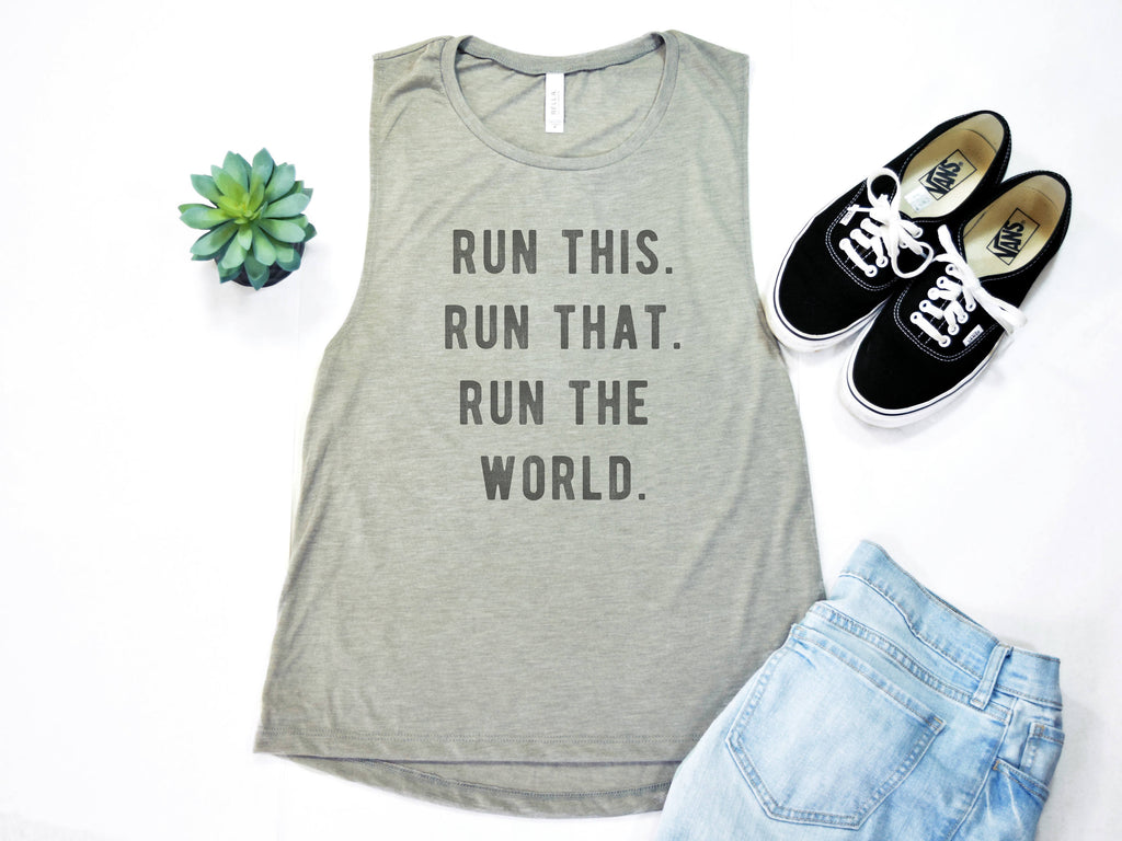 Run the World Muscle Tee