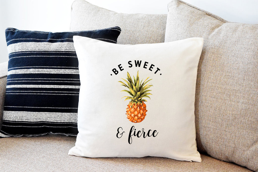 Sweet and Fierce Pineapple Pillow Cover