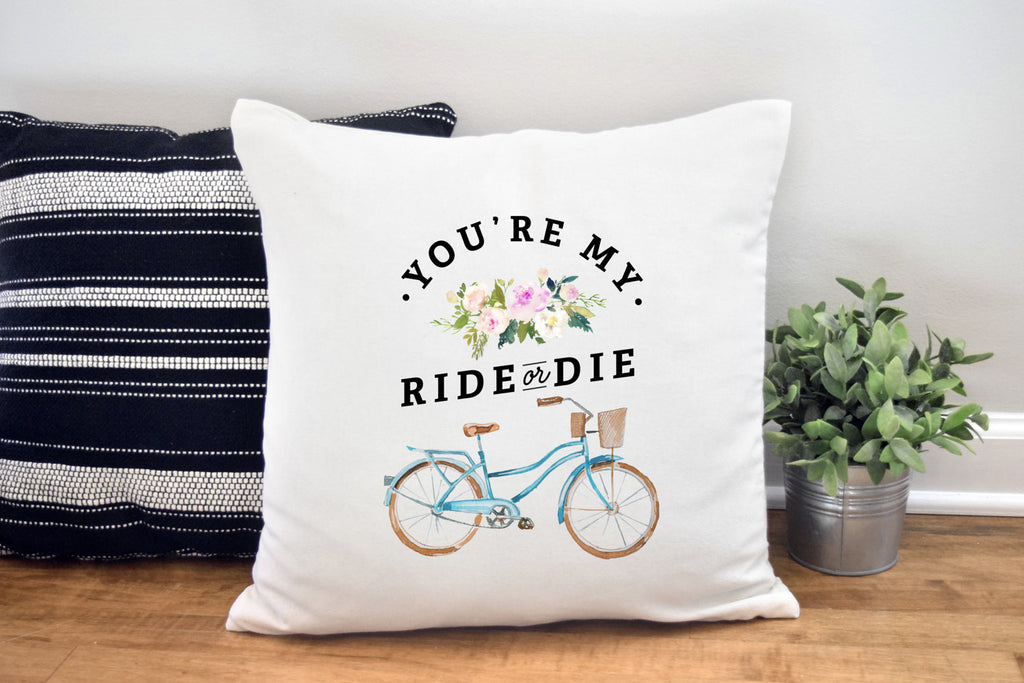 Ride or Die Pillow Cover for Her