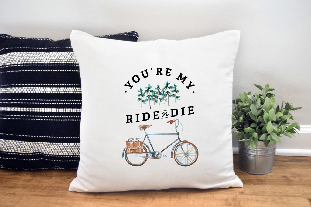 Ride of Die Pillow Cover for Him