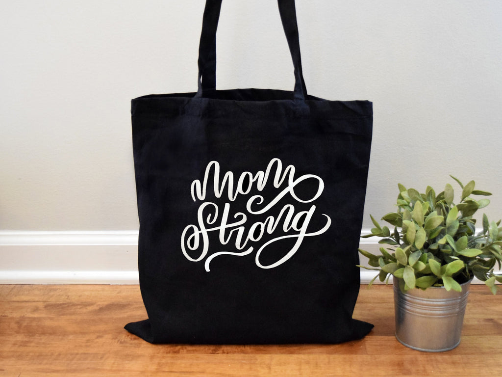 Mom Strong Canvas Tote Bag