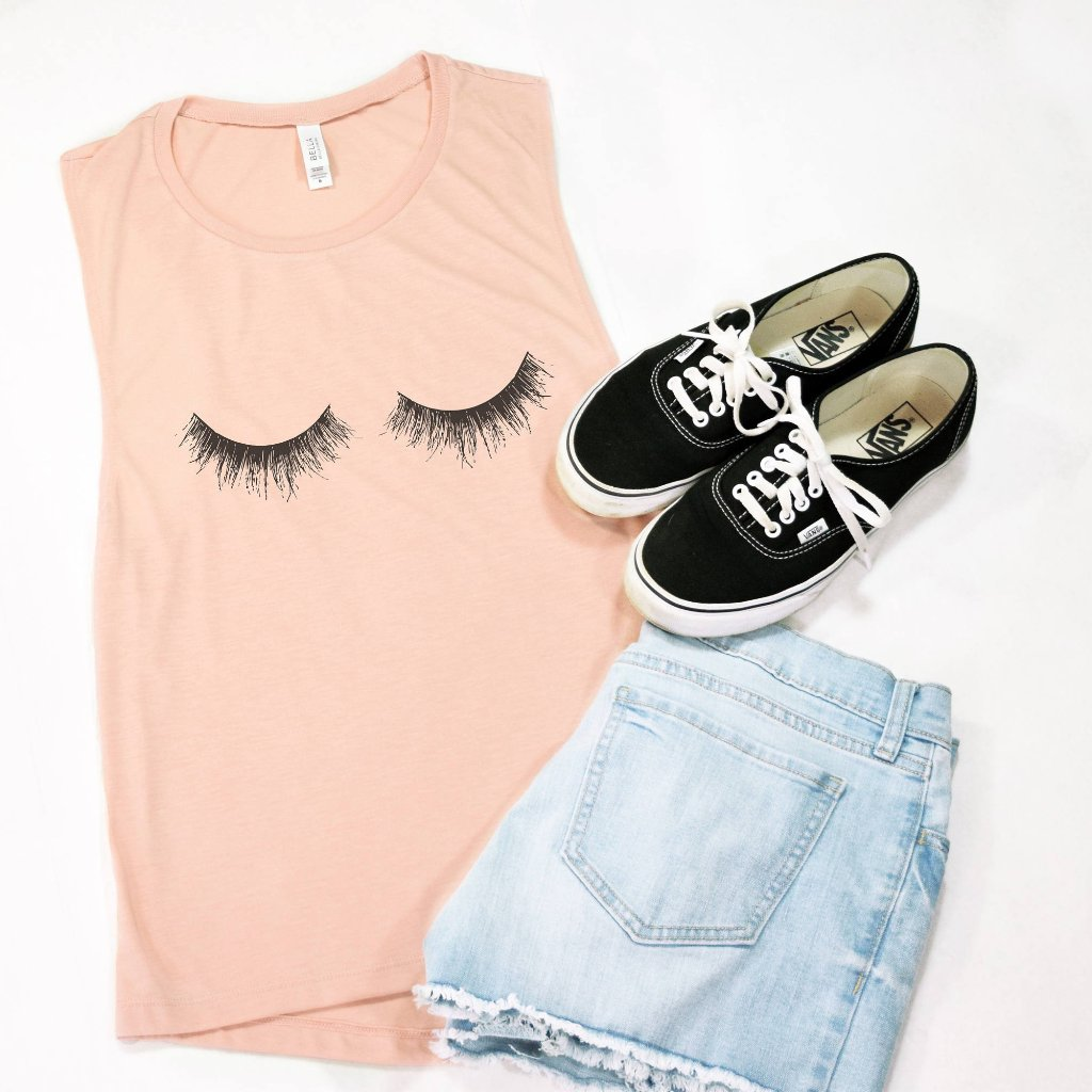Lashes Muscle Tee